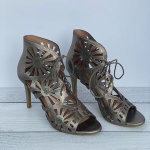 Joie Pewter Lave Up Heels Size 39